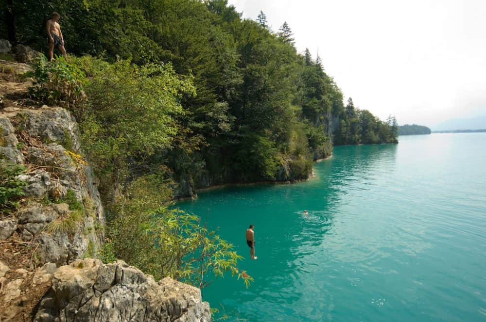 Cliff Diving at Wolfgangsee