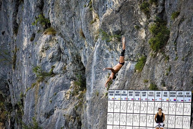 Cliff Diving at Wolfgangsee, Austria