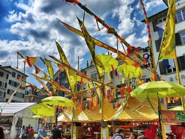 Tropical stall Zurich festival
