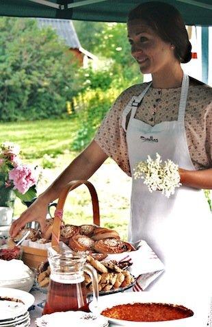 Stella chef at a Swedish food festival