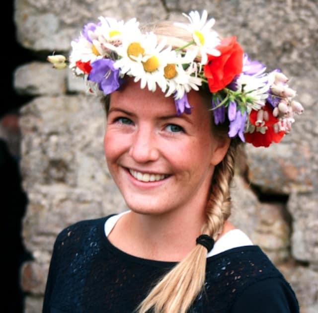 Swedish lady at the Midsummer festival
