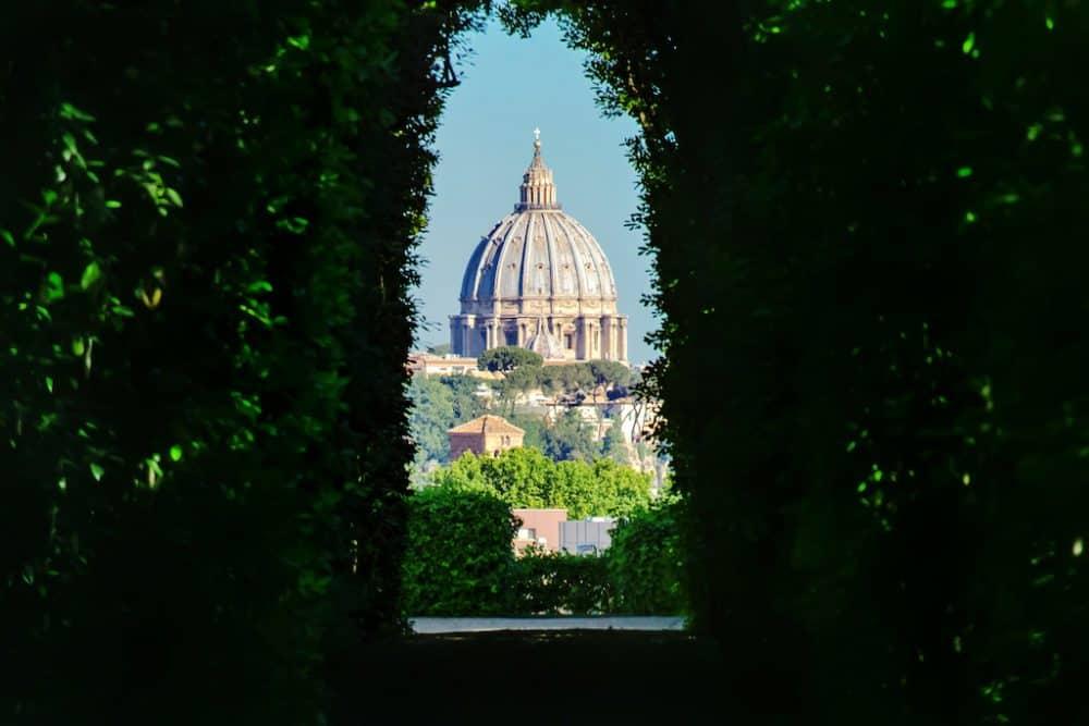 Rome through the keyhole
