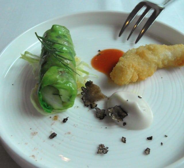 Shrimp roll and Truffle