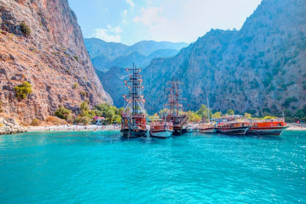 Butterfly valley Turkey - most beautiful beaches in Turkey