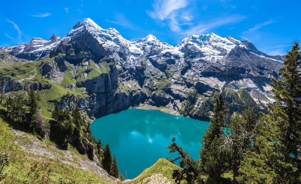 Lake Oeschinen in Switzerland