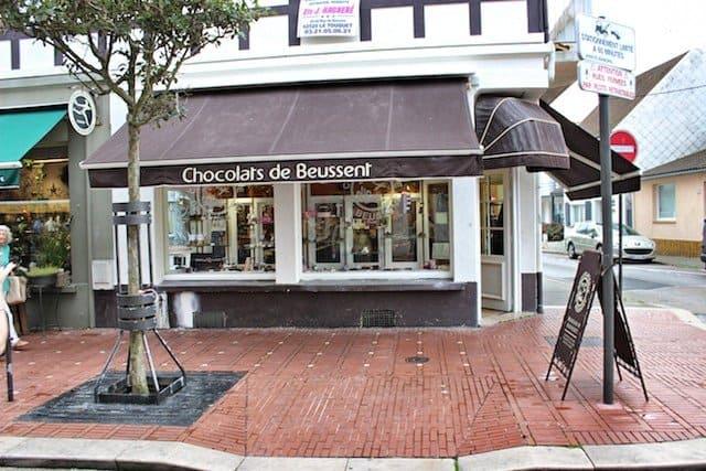 Chocolate shop Le Touquet, France