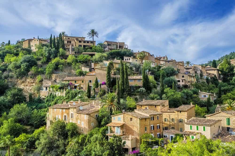 Deia village in Majorca