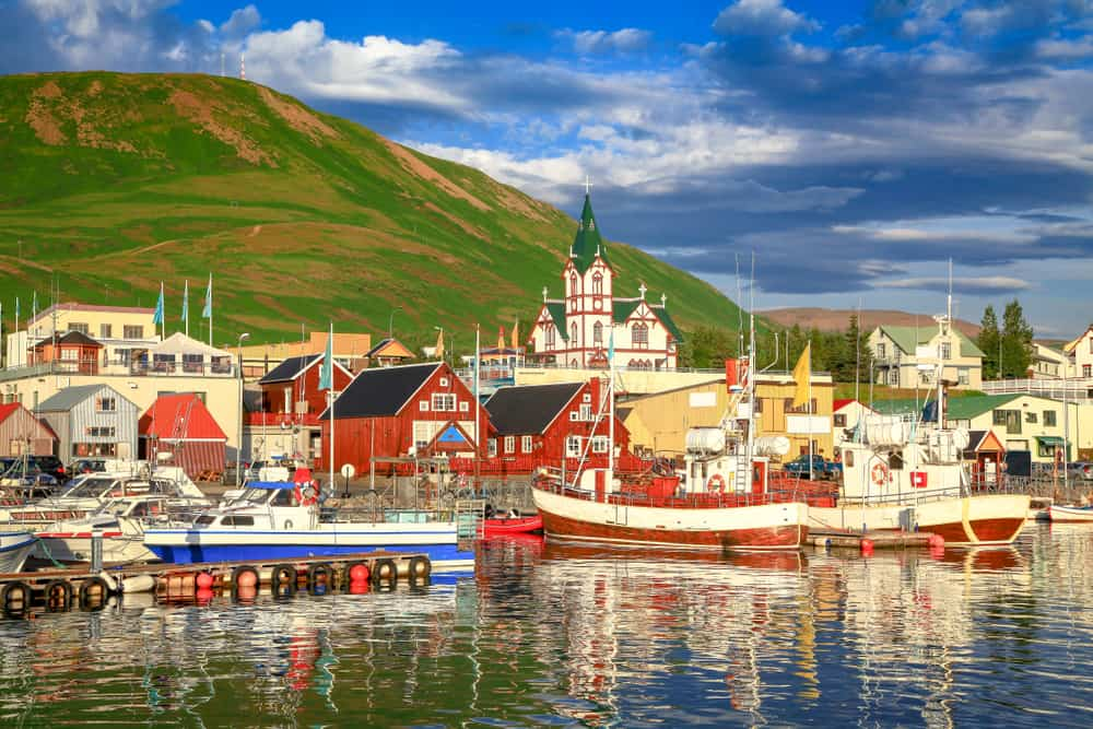 Husavik - pretty towns to visit in Iceland