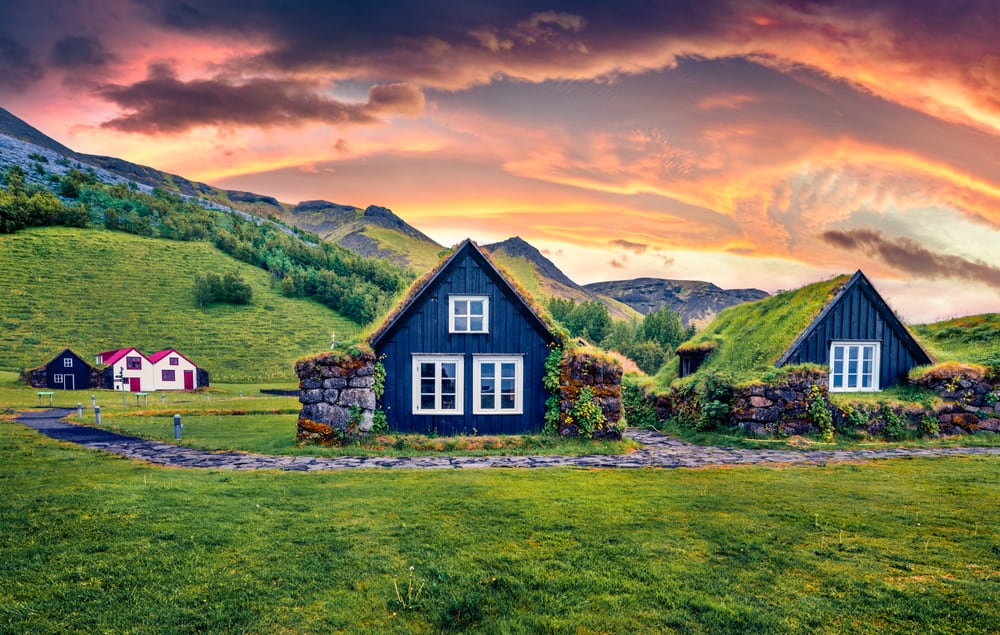 Turf Top House in Iceland