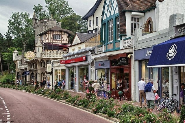 Shopping Street in le touquet