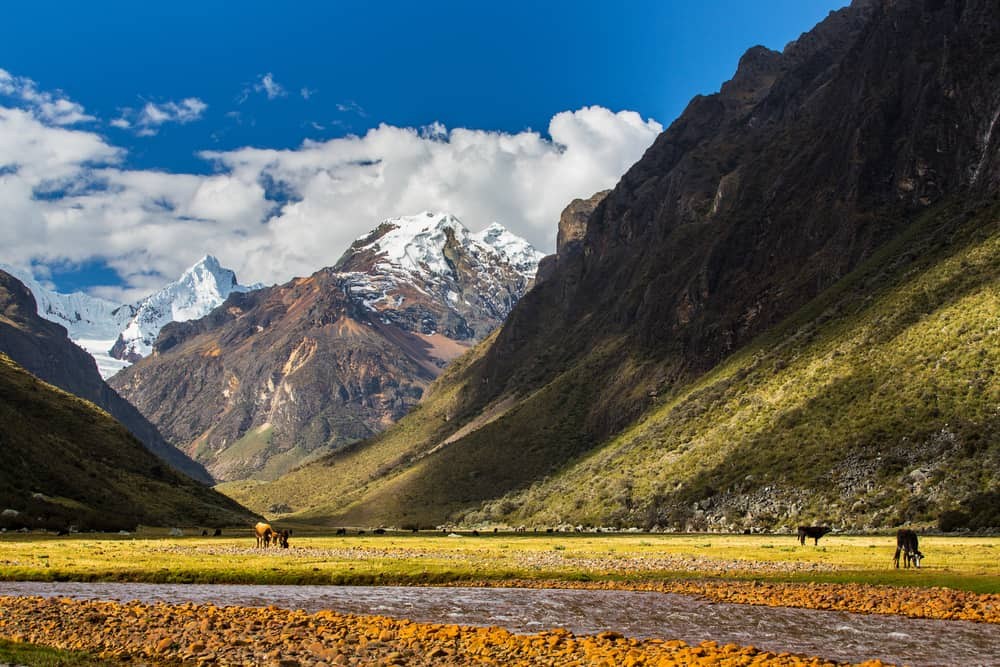 Andes Mountains - beautiful places to visit in Peru