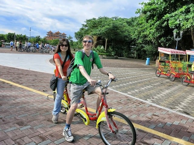 Cycling in Zhuhai, Guangdong Province