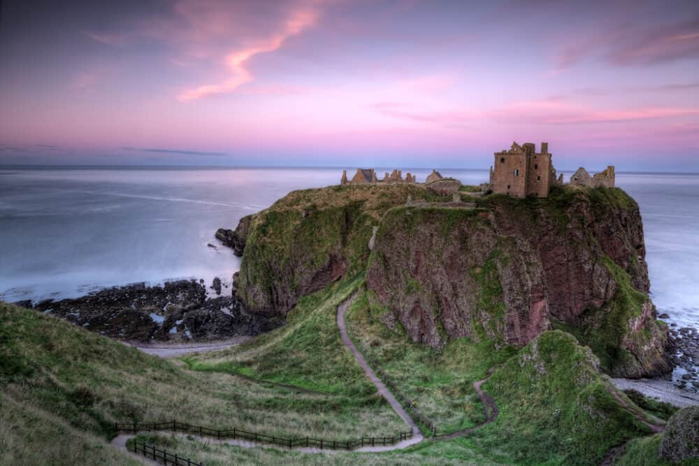 Dunnottar Castle - a dramatic and romantic castle