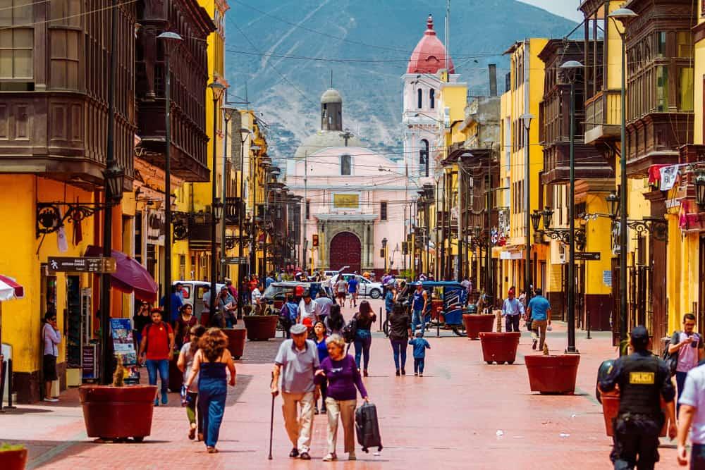 Lima Street Peru