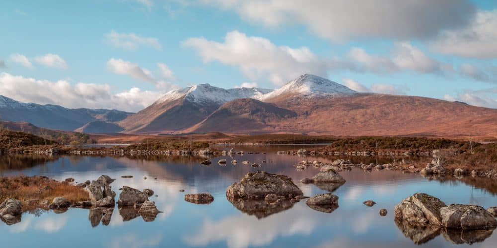 Lochan na h-Achlaise - one of the most scenic places to visit in Scotland