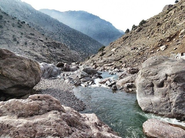 Mountain stream in Atlas Mountains