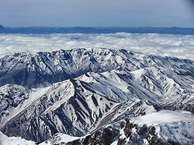 Snow top High Atlas Mountains