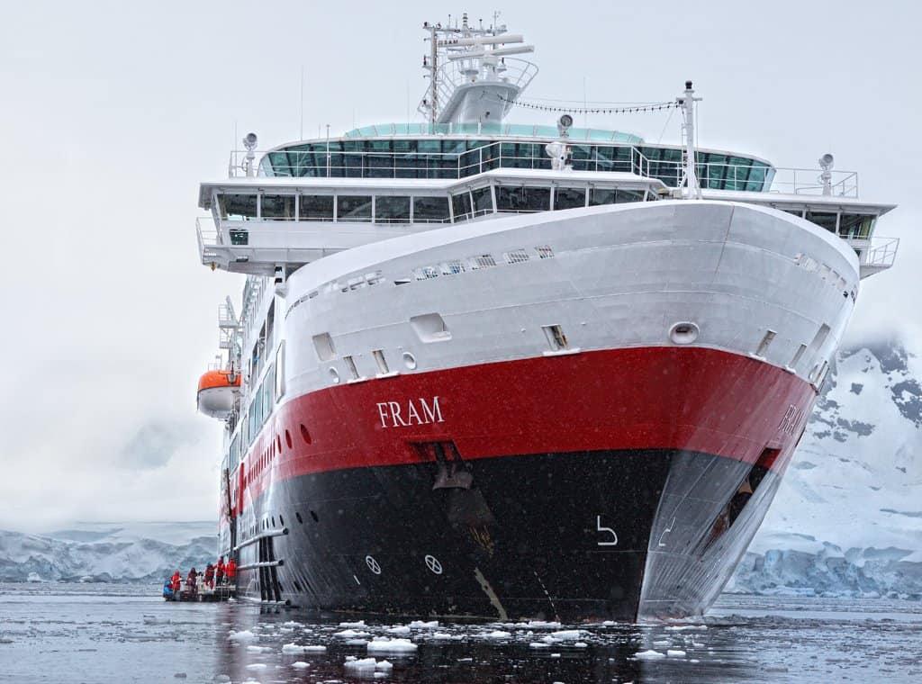 A huge ship in Antarctica