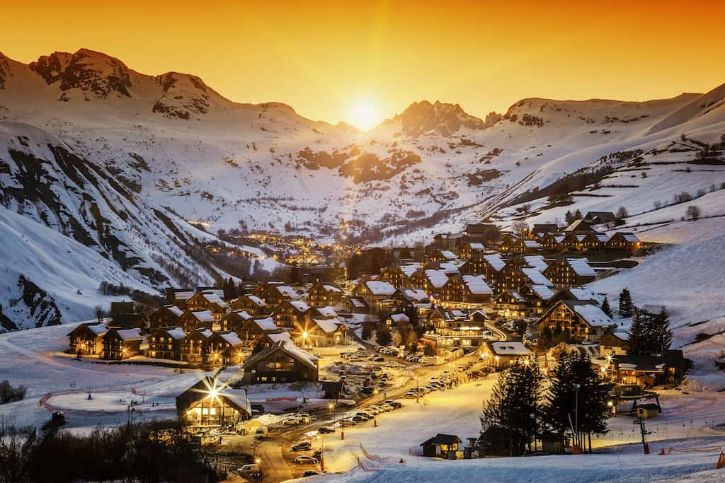La Plagne ski resort France