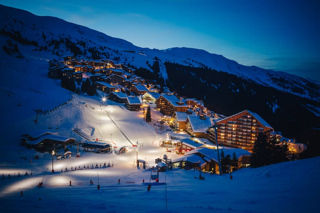 Meribel ski resort France