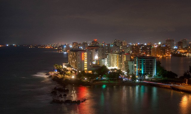 San Juan Puerto Rico on New Year's Eve