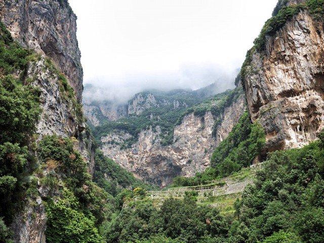 Amalif coast cliffs