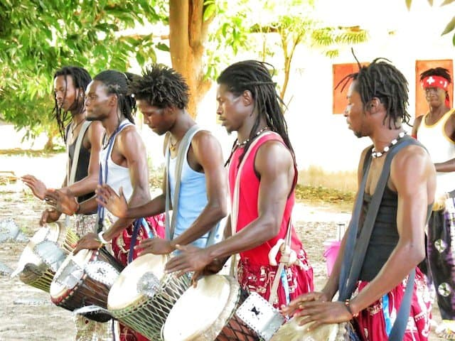 West Africa - mastering the djembe drum in Gambia