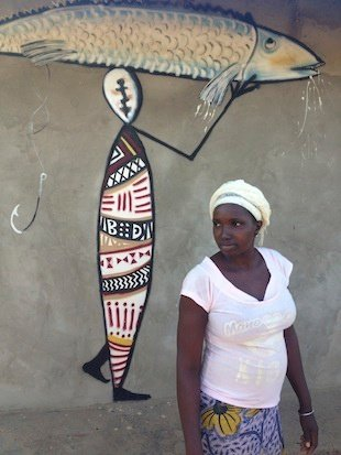 Gambian Lady and Street Art