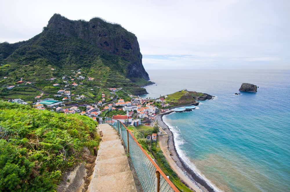 Porto da Cruz on Madeira island