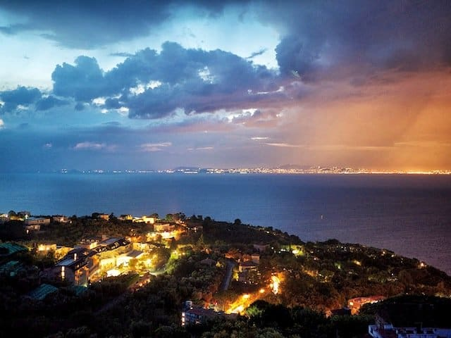 Sorrento view at night