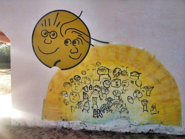 Sun street art
