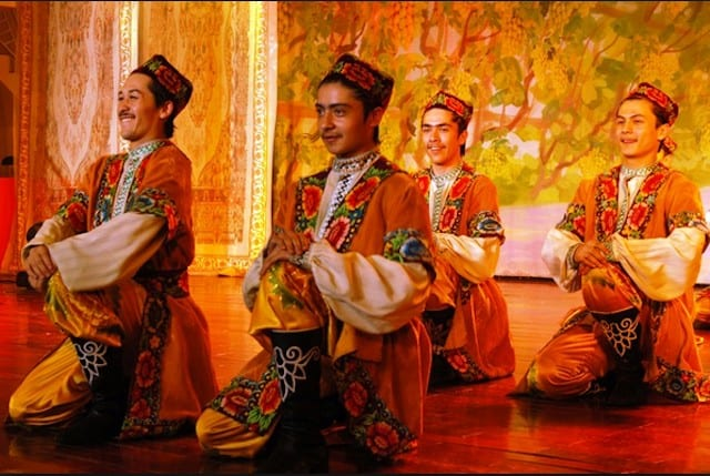 Xinjiang China dancing