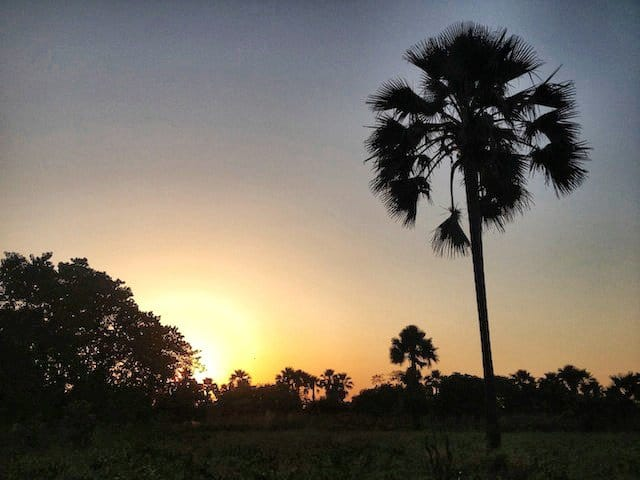 sunset in the Gambia