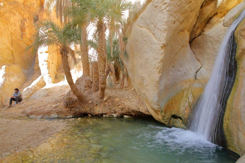 Chebika - an oasis that lies at the foot of the Djebel el Negueb mountains