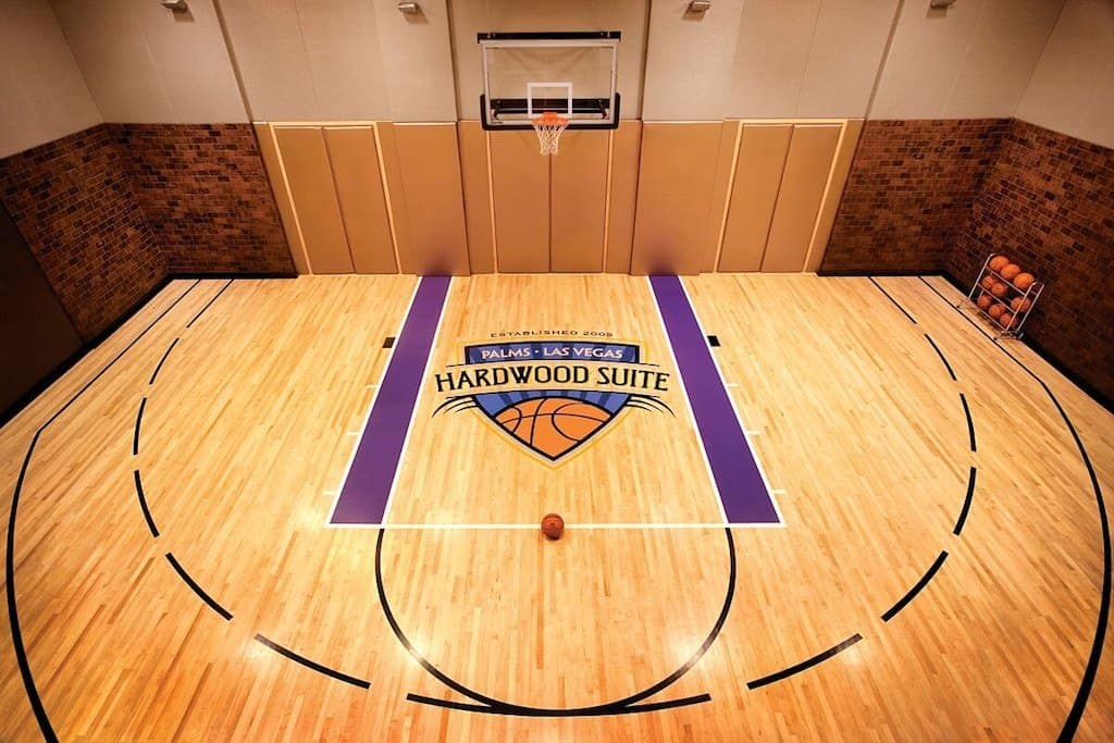Hardwood Suite at The Palms basketball court