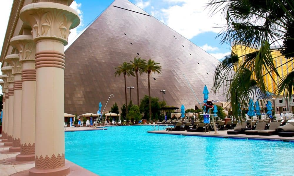The Luxor - the fun and kitsch Egyptian themed Las Vegas hotel