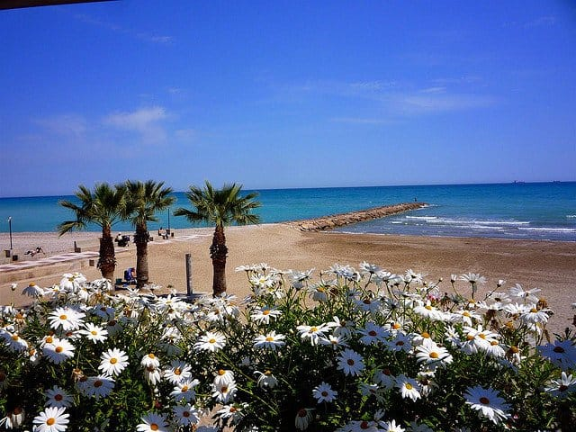 Benicassim beach in Spain