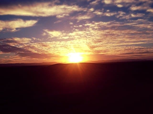 Sahara sunrise Morocco