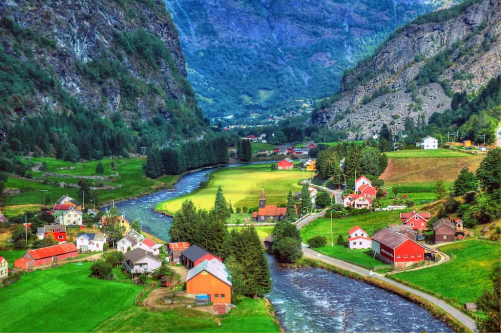 Flam - one of the prettiest villages to visit in the Norway fjords