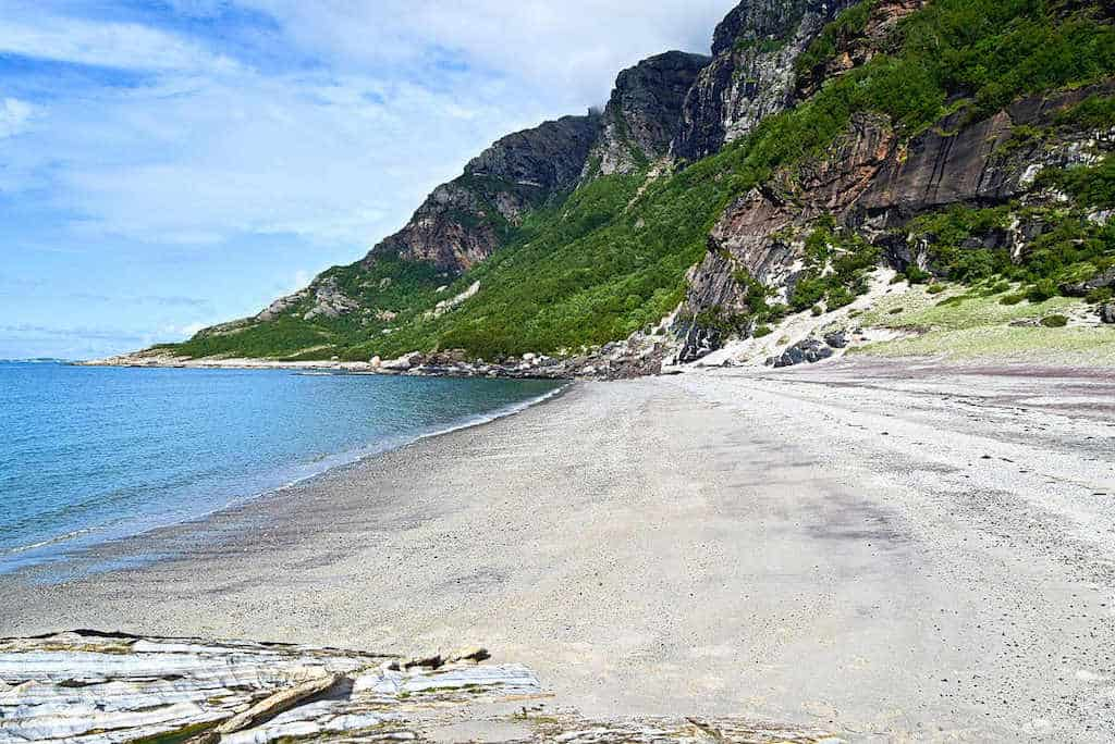 Mjelle beach, Bodø - a beautiful and unique gemstone beach