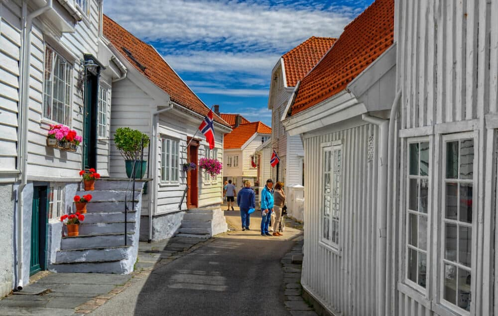 Skudeneshavn - historic town in Norway