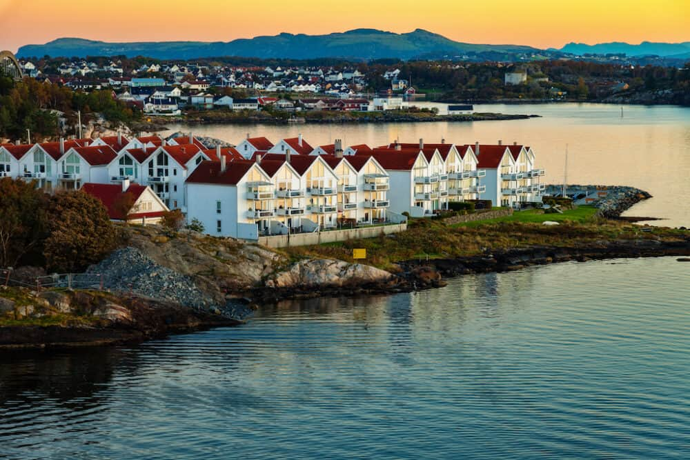 Stavanger - an attractive Norway city known for its colorful houses