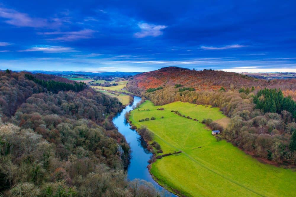 Wye Valley in Wales