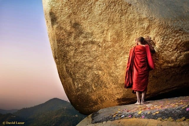 5-David-Lazar-Luminous-Journeys-alt=Golden Rock monk on photo tour in Myanmar