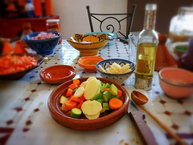 A Marrakech kitchen - cooking with Lalla Fatima Global Grasshopper