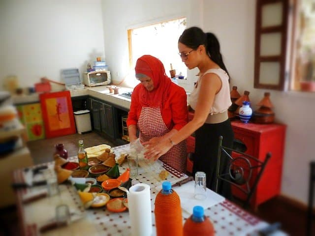 Cooking with Lalla Fatima in a Marrakech Cooking School Global Grasshopper