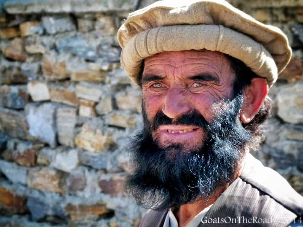 afghan man looks on