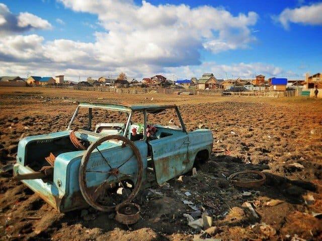Gobi desert car