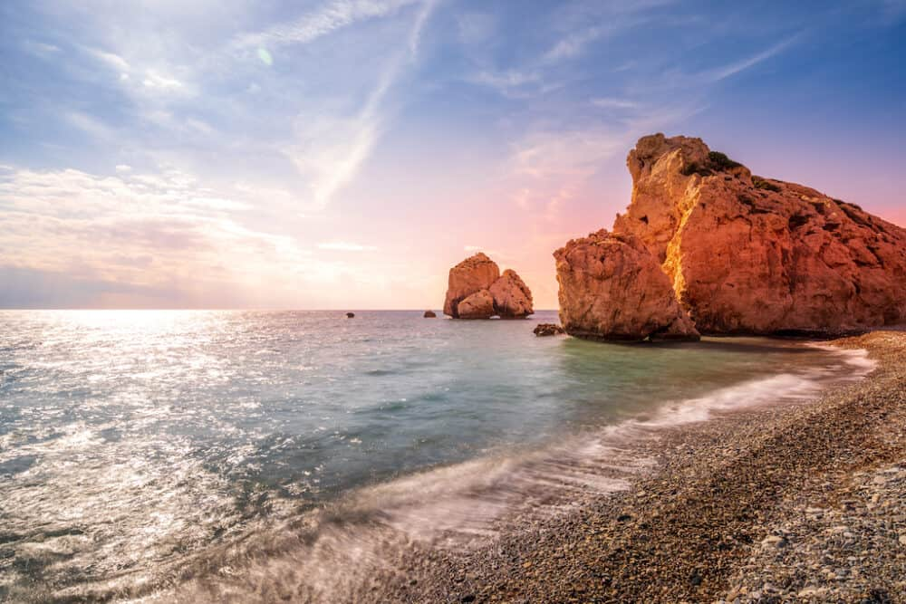 Aphrodite's Rock in Cyprus