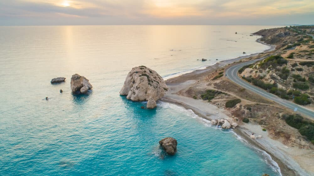 Aphrodite's Rock - stunning places to visit in Cyprus